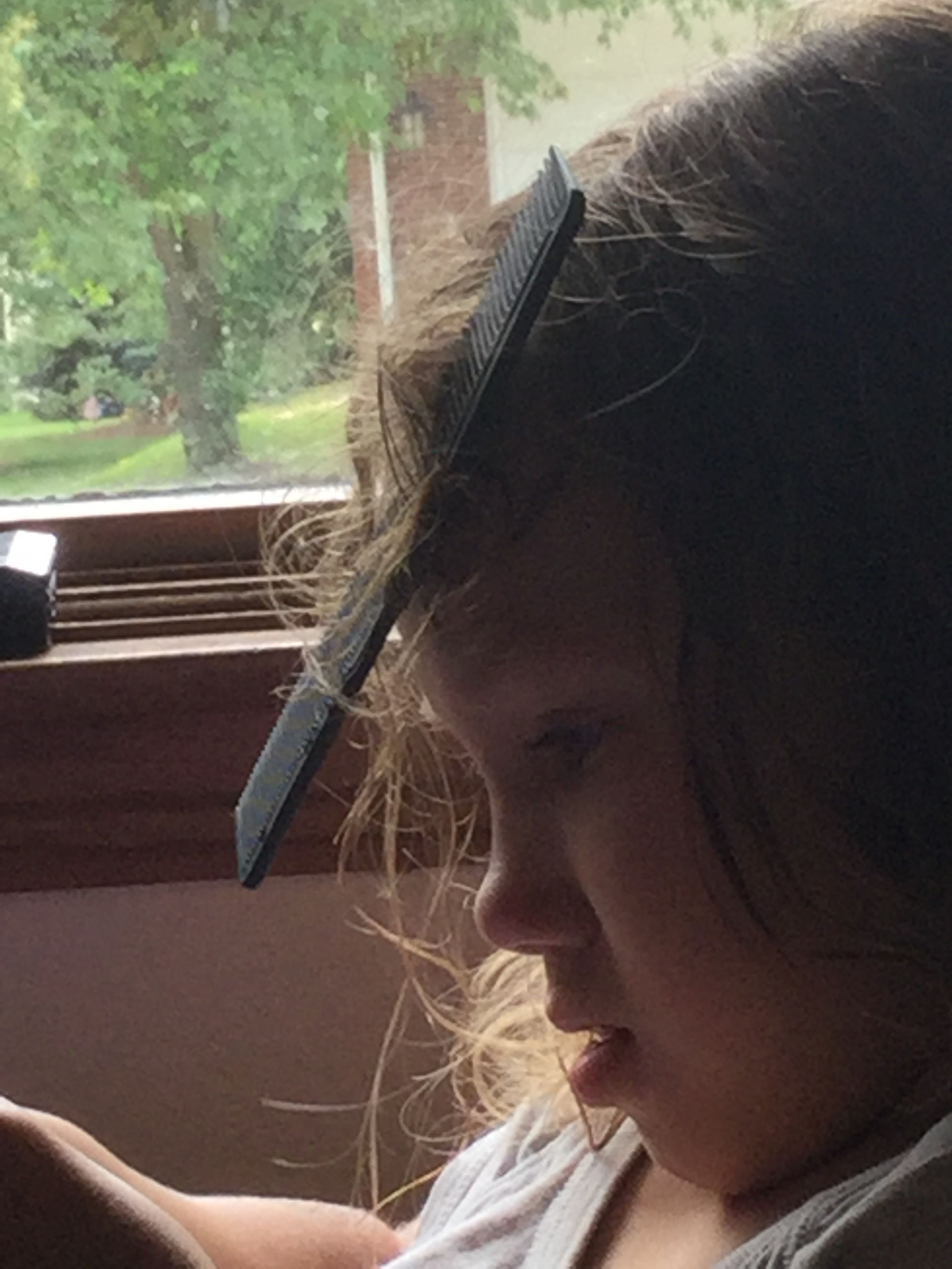 My step sister got a comb stuck in her hair | Hair sticks