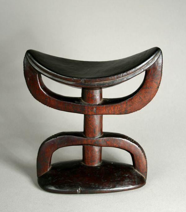 Ethiopian Headrest African Furniture Art