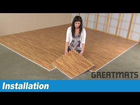 Soft Wood Grain Foam Tiles With Wood Grain Designer Look