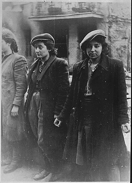 Women prisoners taken during the destruction of the Warsaw Ghetto, Poland, 1943., ca. 1945 - ca. 1946