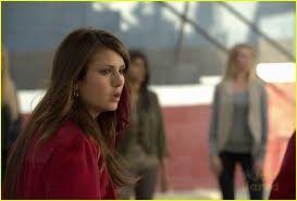 whats elena looking at?
