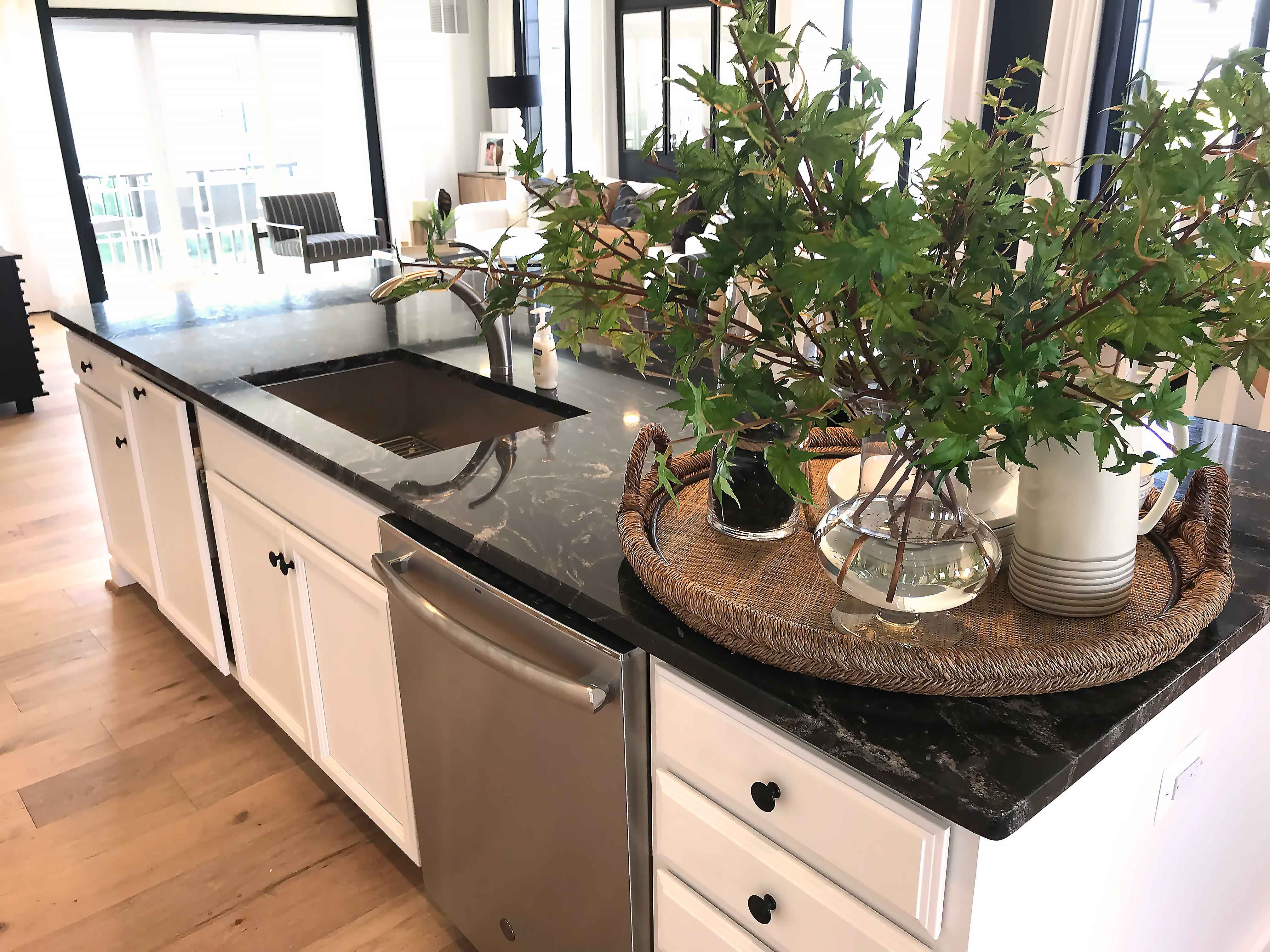 Elegance And Modern Style Black Granite Countertop Ideas