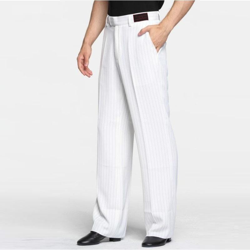 750a5528f3f9 Latin Dance Pants Male White Plus Size Dancing Pants Fabric Men Ballroom  Stage Modern Chacha Waltz