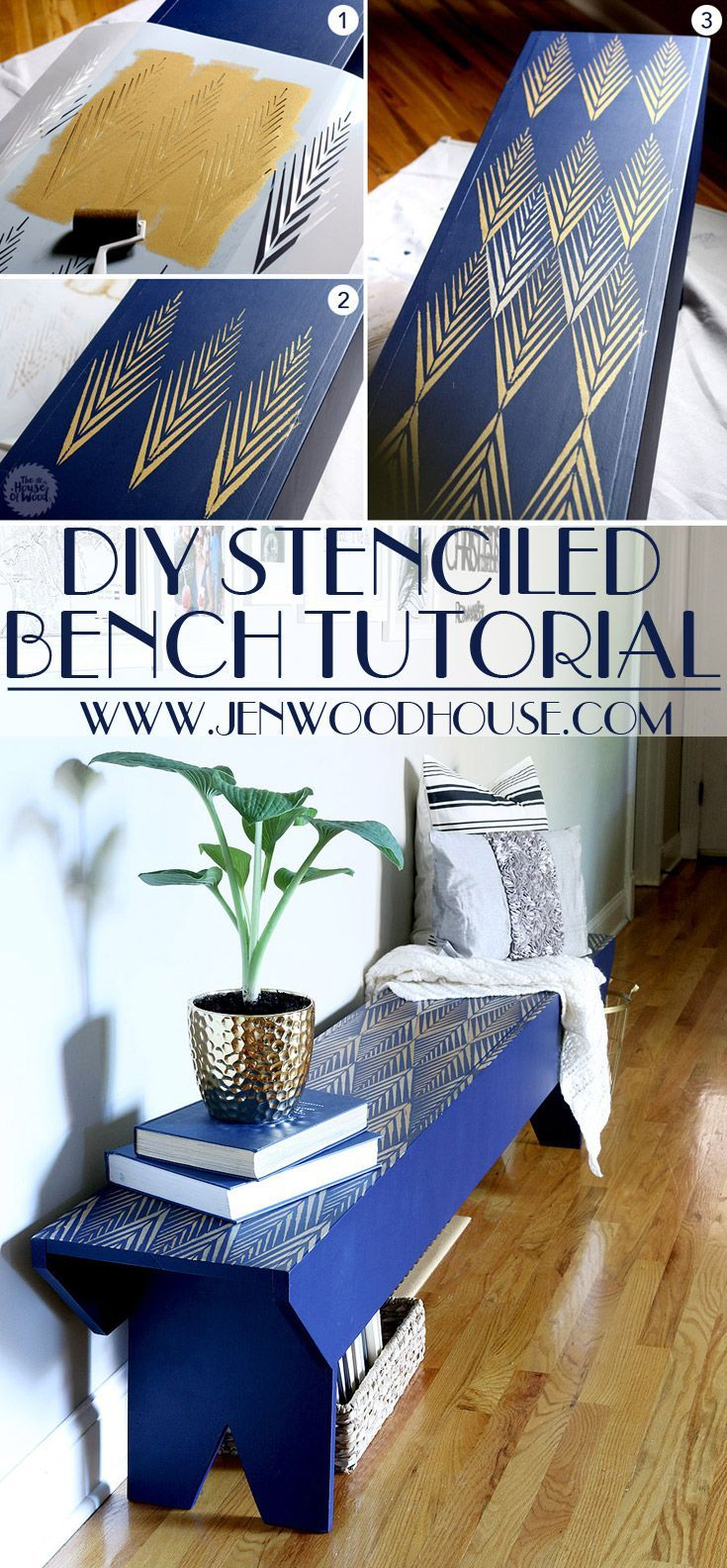 African Plumes Raven + Lily Furniture Stencil