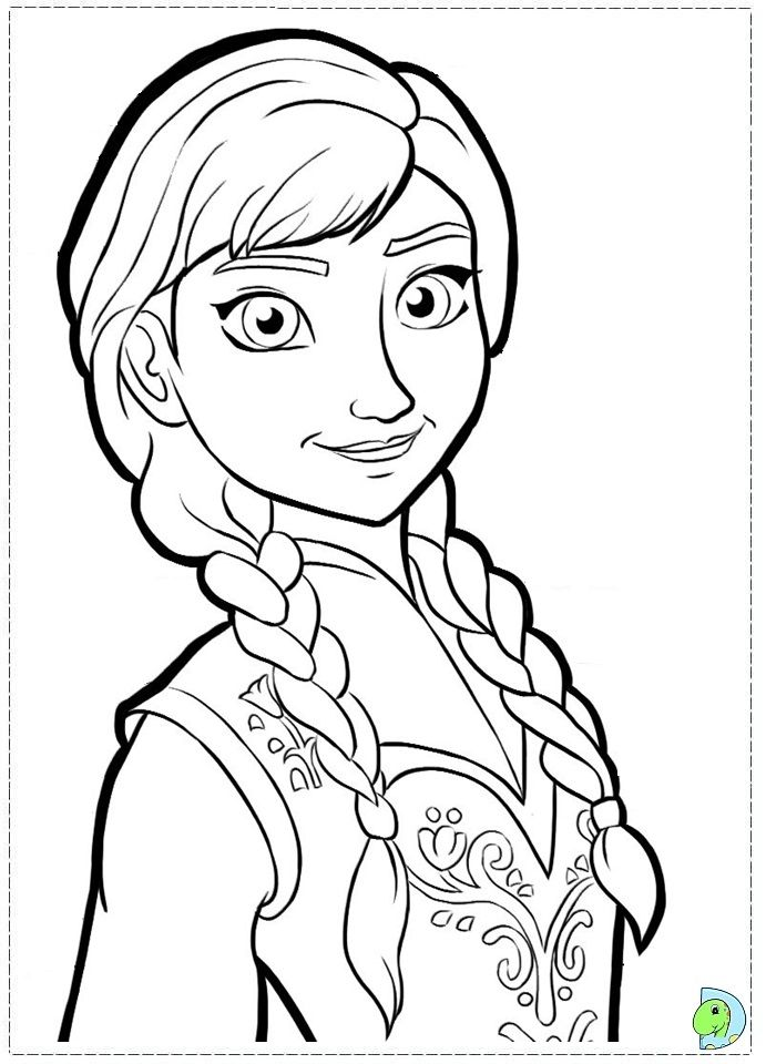 frozen anna pic coloring pages printable coloring pages - Frozen Printable Coloring Pages