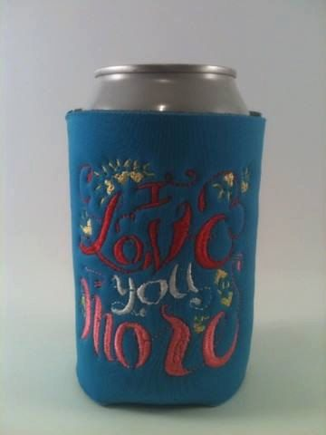 Valentines Day - I Love You More Can and Bottle Koozies--Personalized and  Embroidered