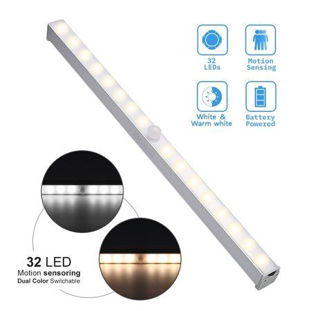 Elfeland Led Under Cabinet Light Motion Sensor Activated 32