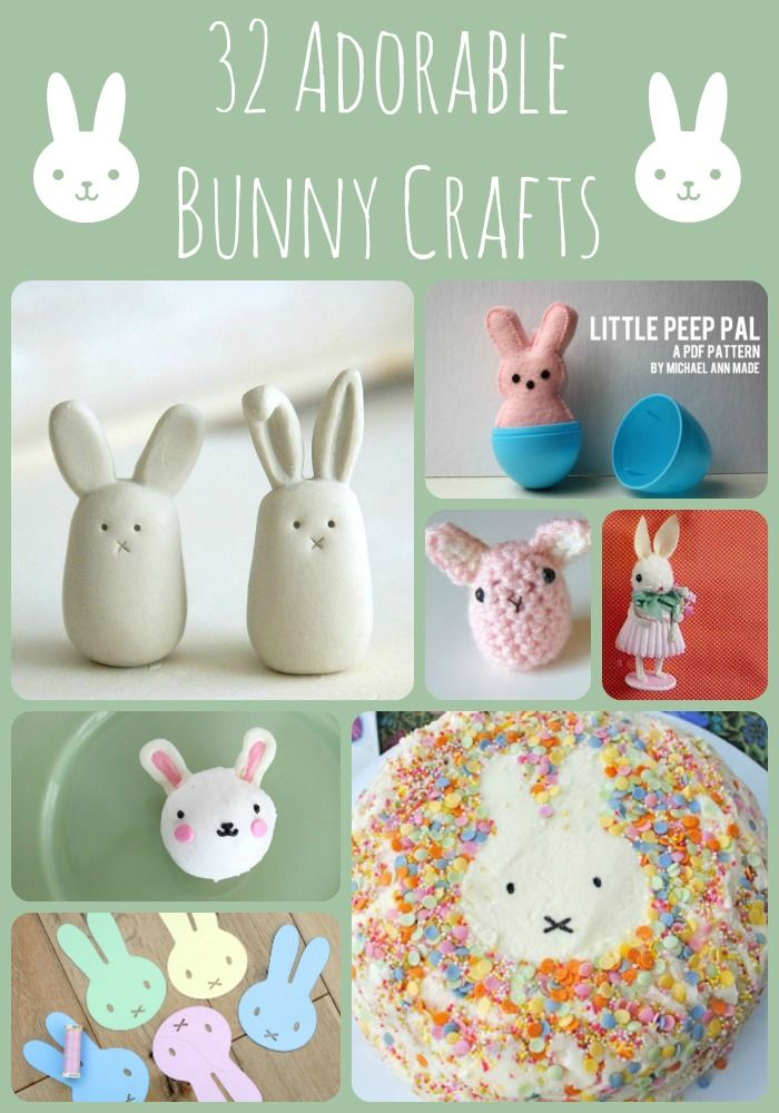 Adorable Bunny Crafts... we adore bunnies in our house. Here are some adorable bunny crafts and bunny treats to delight!