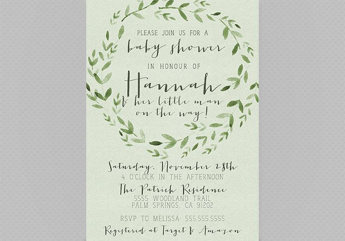 Forest baby shower invitation woodland green 109b by forest baby shower invitation woodland green 109b by designanddonuts on etsy https filmwisefo
