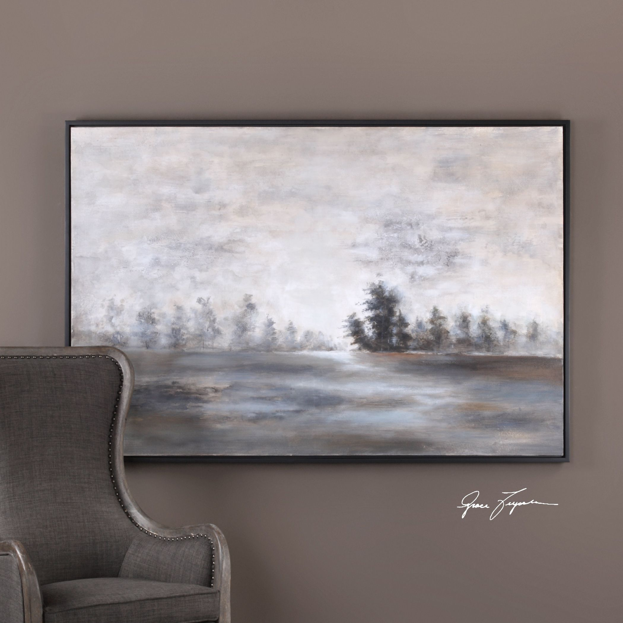 Evening mist landscape art products