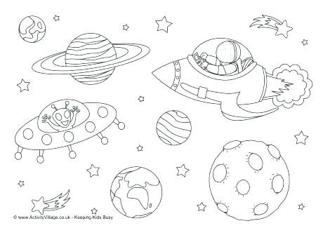 Space Coloring Book Outer Space Coloring Pages Space Coloring Page ...