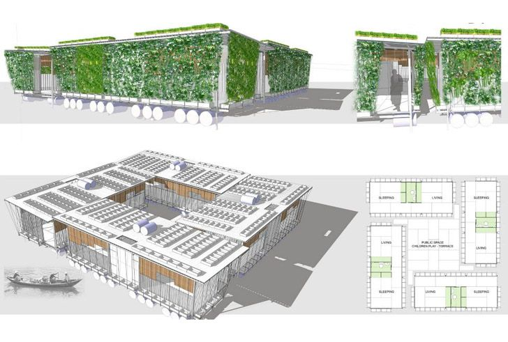 Building Trust International Announces Winners Of Competition For Sustainable Low Income Housing In Cambodia Low Income Housing Floating House Family House