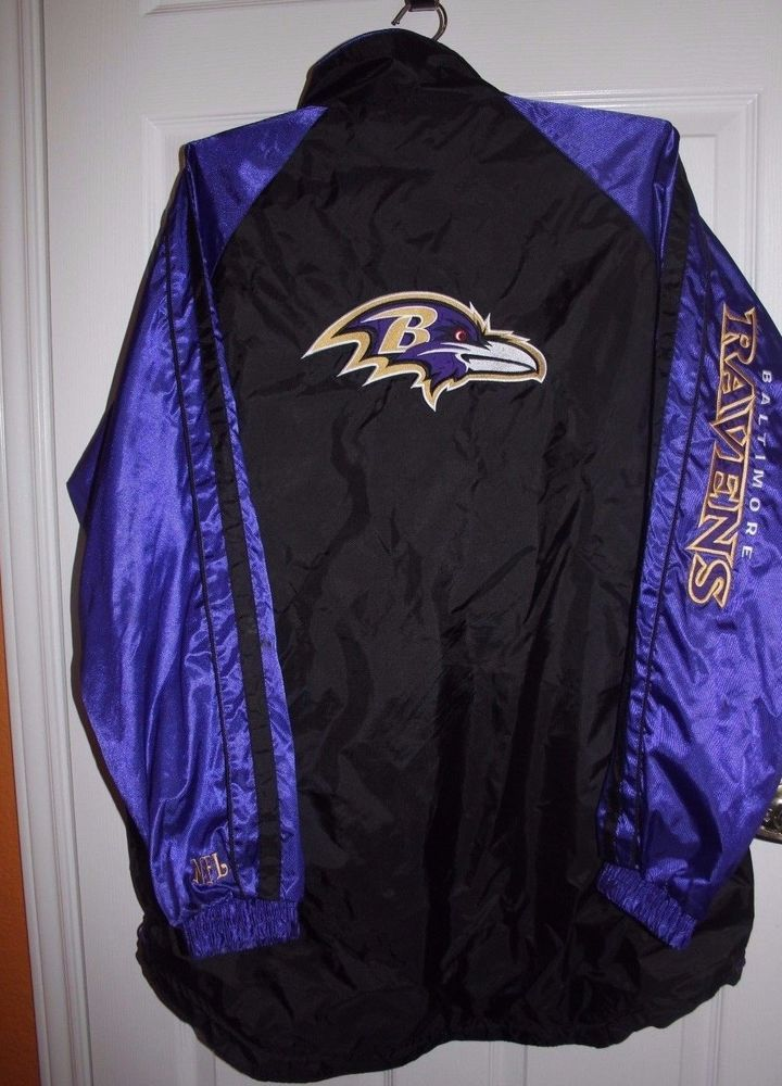 release date: 563e1 41560 BALTIMORE RAVENS SideLine NFL Waterproof Windbreaker Men's L ...