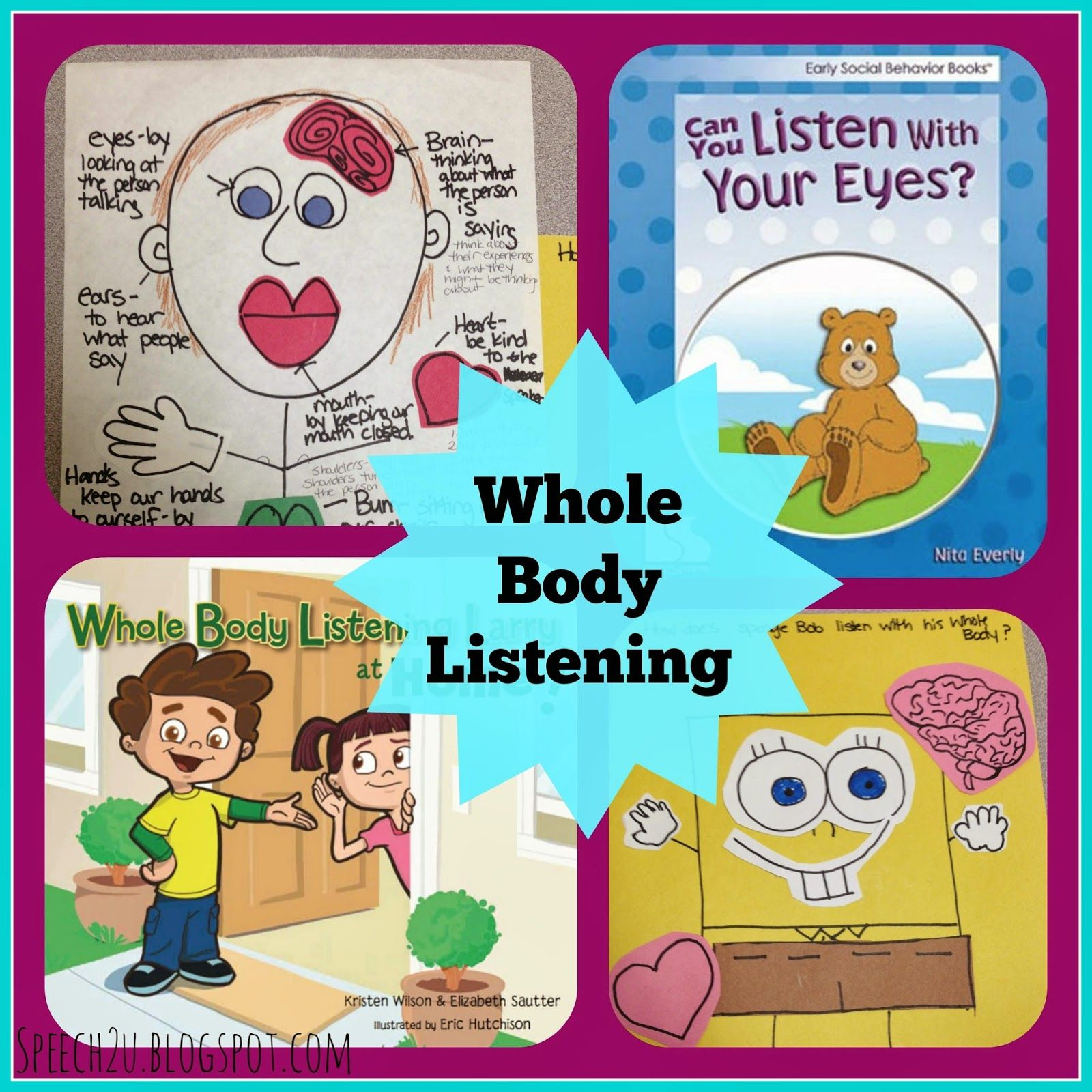 Whole Body Listening Sponge Bob Style