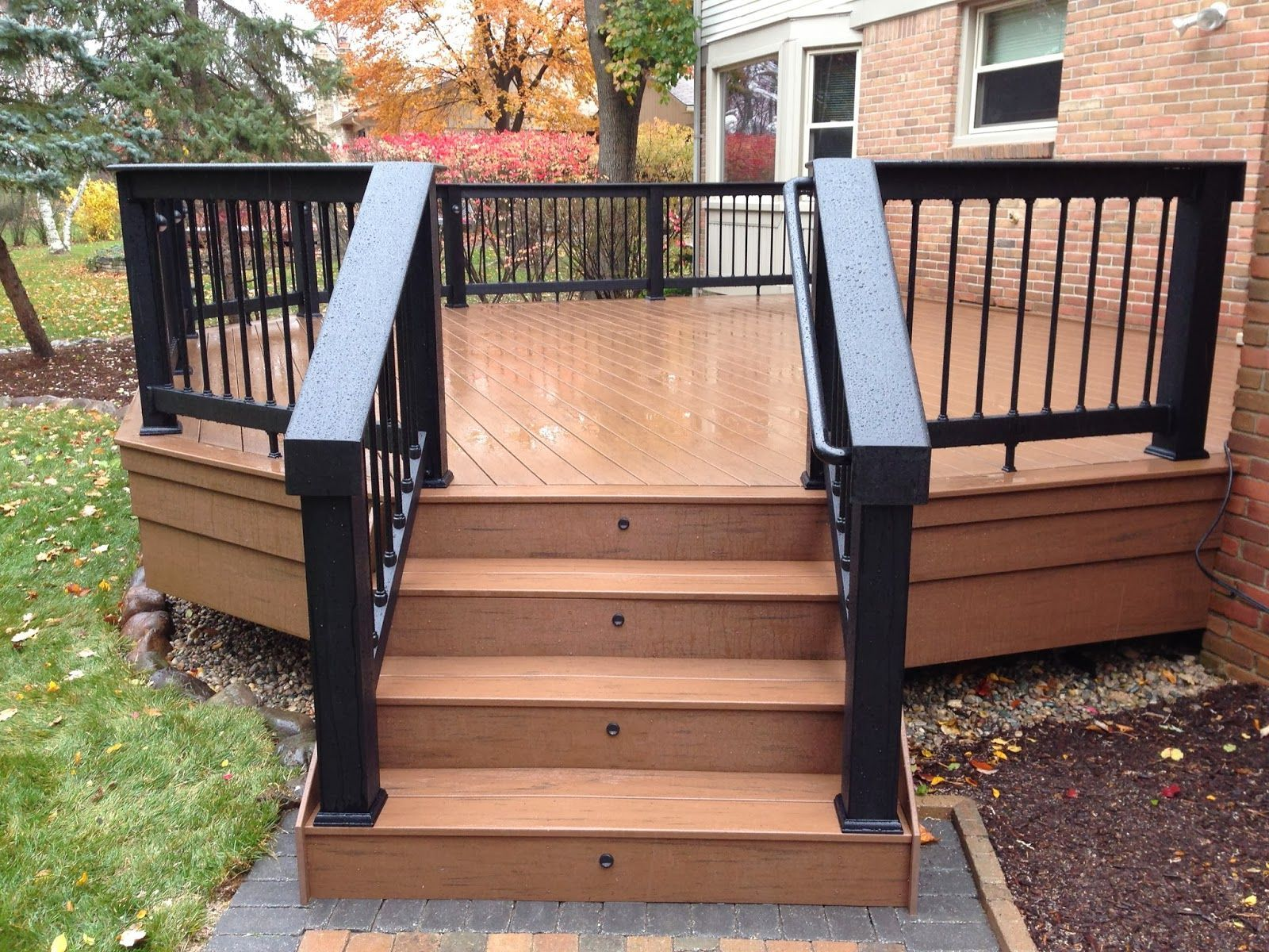 Grabbing exterior beauty with small backyard deck ideas for Front entry decks
