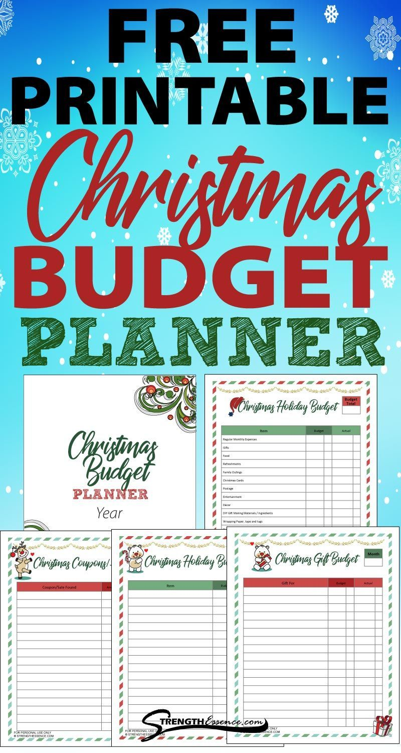 2020 Easy Printable Christmas Organizer FREE Printable Christmas Budget Planner 2020 (PDF Download