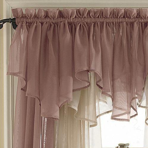 Gasa de lujo cortina cenefa cortina doble intersecci n - Cortinas de gasa ...