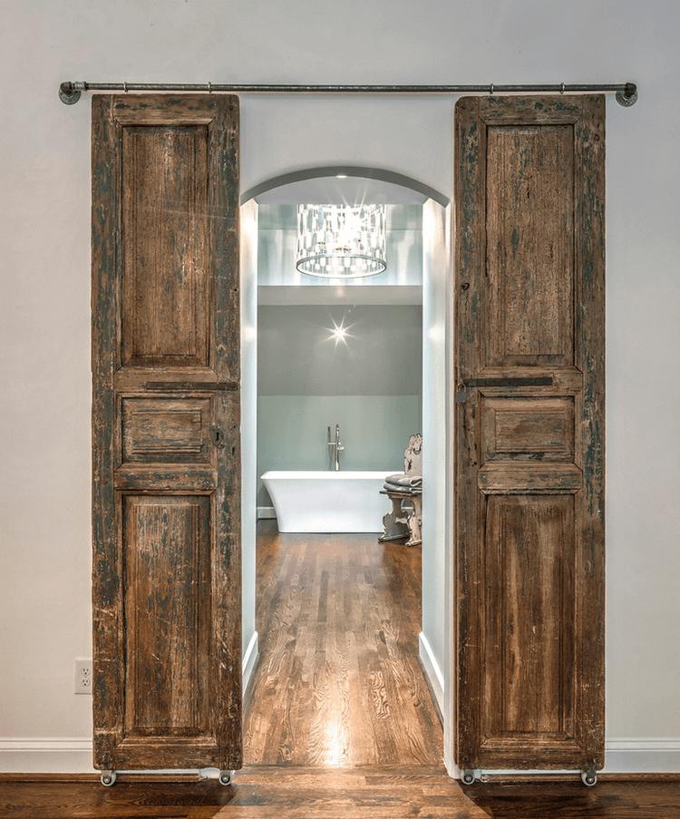 Photo of Enchanted Chateau Wooden Bathroom Doors