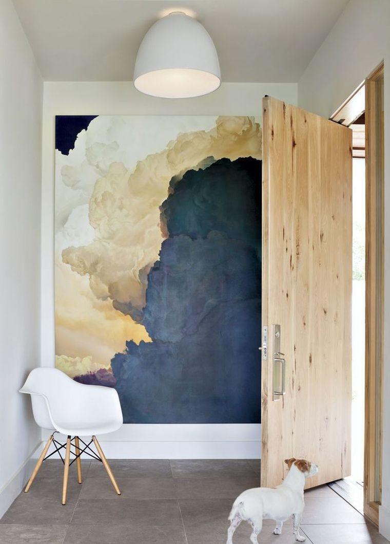 tableau pour déco murale avec art et entrée de maison ...