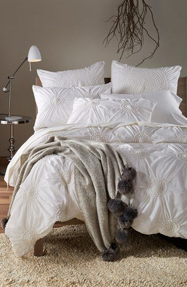 Chloe Duvet Cover And Shams White Shabby Chic Linens Via Nordstrom