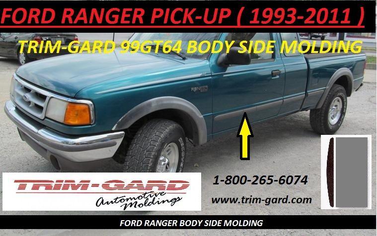 1993 1994 1995 1996 1997 1998 1999 2000 2001 2002 2003 2004 2005 2006 2007 2008 2009 2010 2011 Ford Ranger Pick Up Body Si Ford Ranger Moldings And Trim Trucks