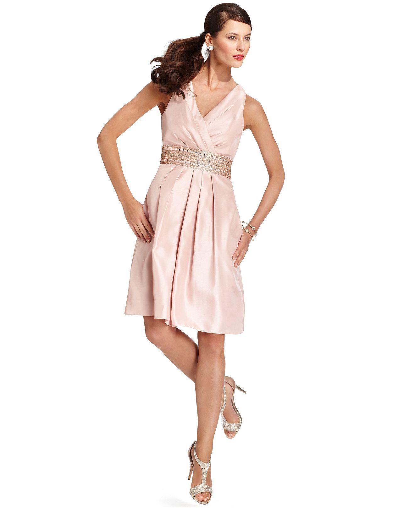 Macys womens dresses wedding  JS Boutique Dress Sleeveless Sequined Beaded ALine  Womens