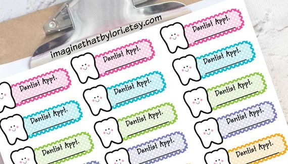 Dentist Appointment Planner Sticker For Your By Imaginethatbylori