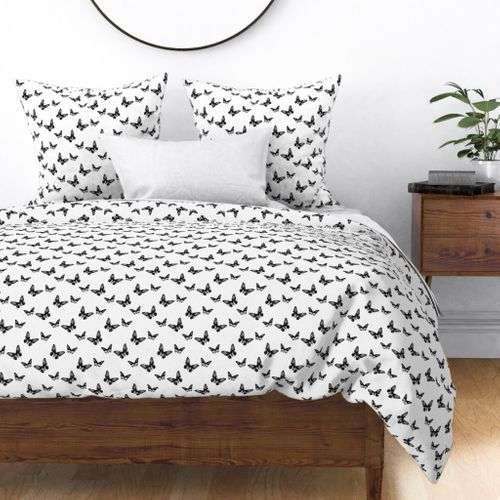 Classic Butterflies in Black and White Duvet Cover @ Spoonflower #spoonflower #fabric #duvet #duvetcover #duvetcovers