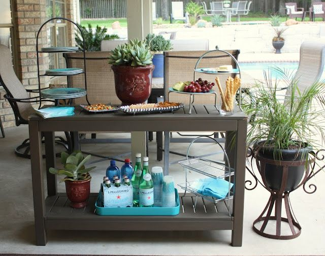 Outdoor Buffet Table Using A Side Table Outdoor Buffet Tables