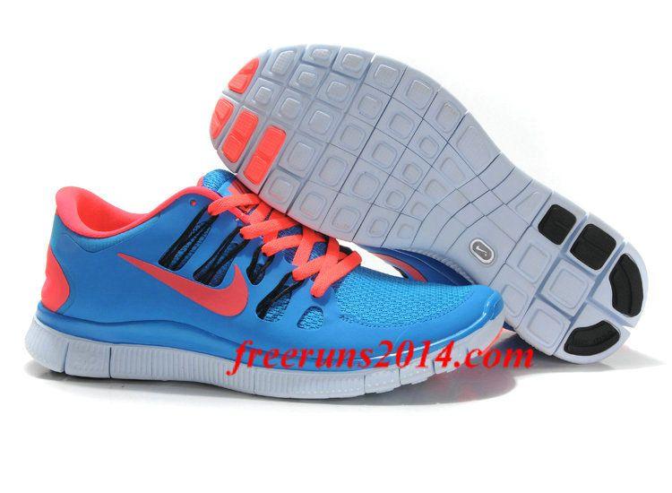 nike free 5.0 orange and blue mens dress shoes