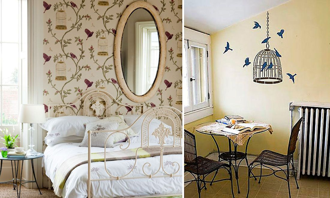 Birdcage motifs can be used in wallpaper patterns or wall stickers www.realinter.ru. #interdema #cages #wallpaper #decor #homedecor #homedecoration #декор #декордлядома #предметыинтерьера