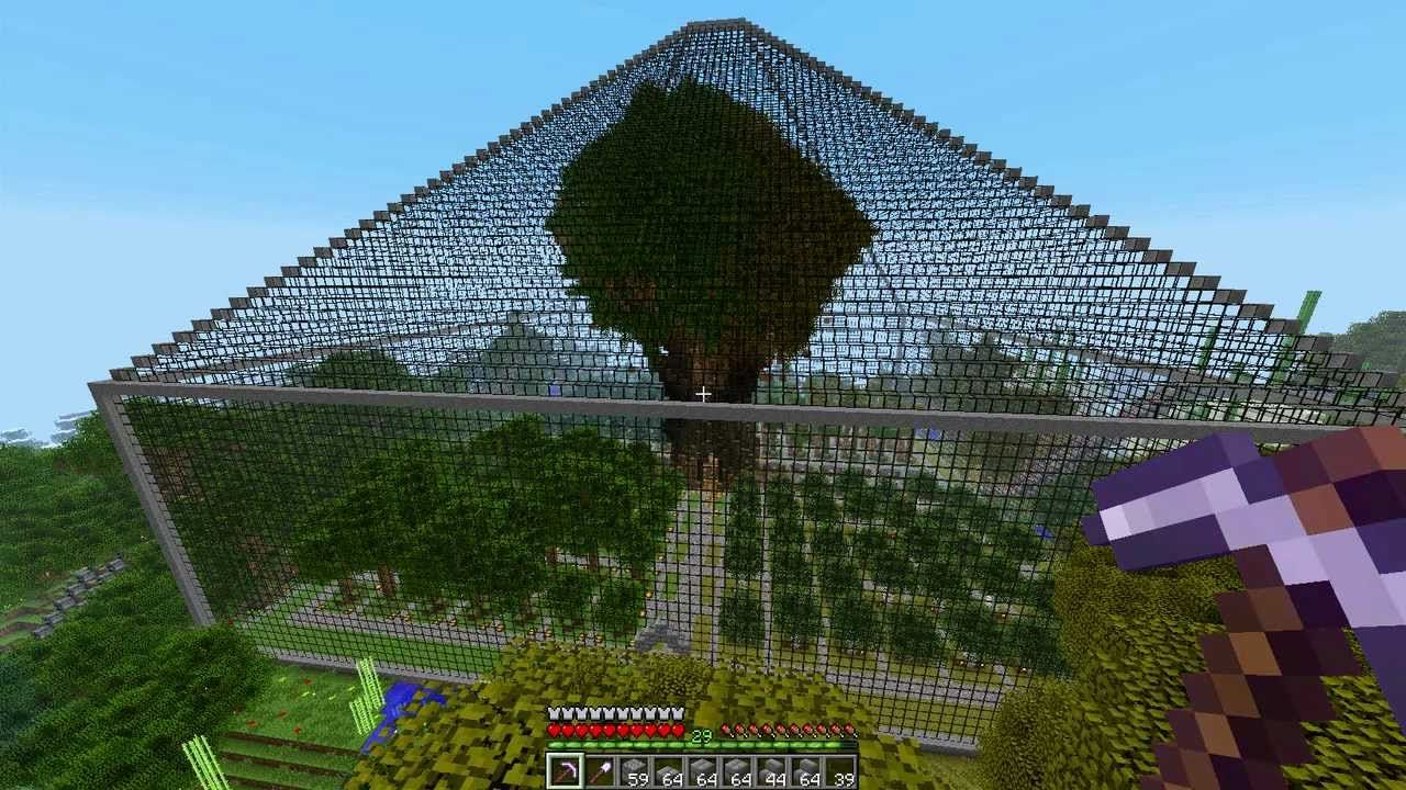 Cool tree green house minecraft pinterest minecraft for Cool ideas for building a house