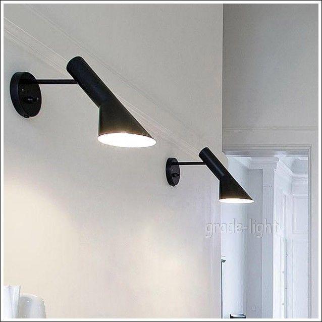 Louis poulsen arne jacobsen aj wall lamp black white up down