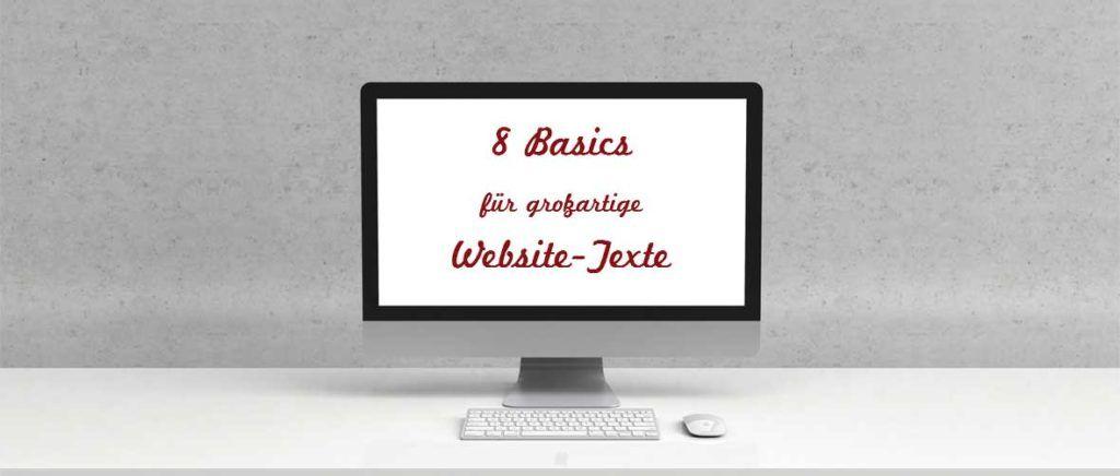 8 Basics für großartige Website-Texte - Federführend Media