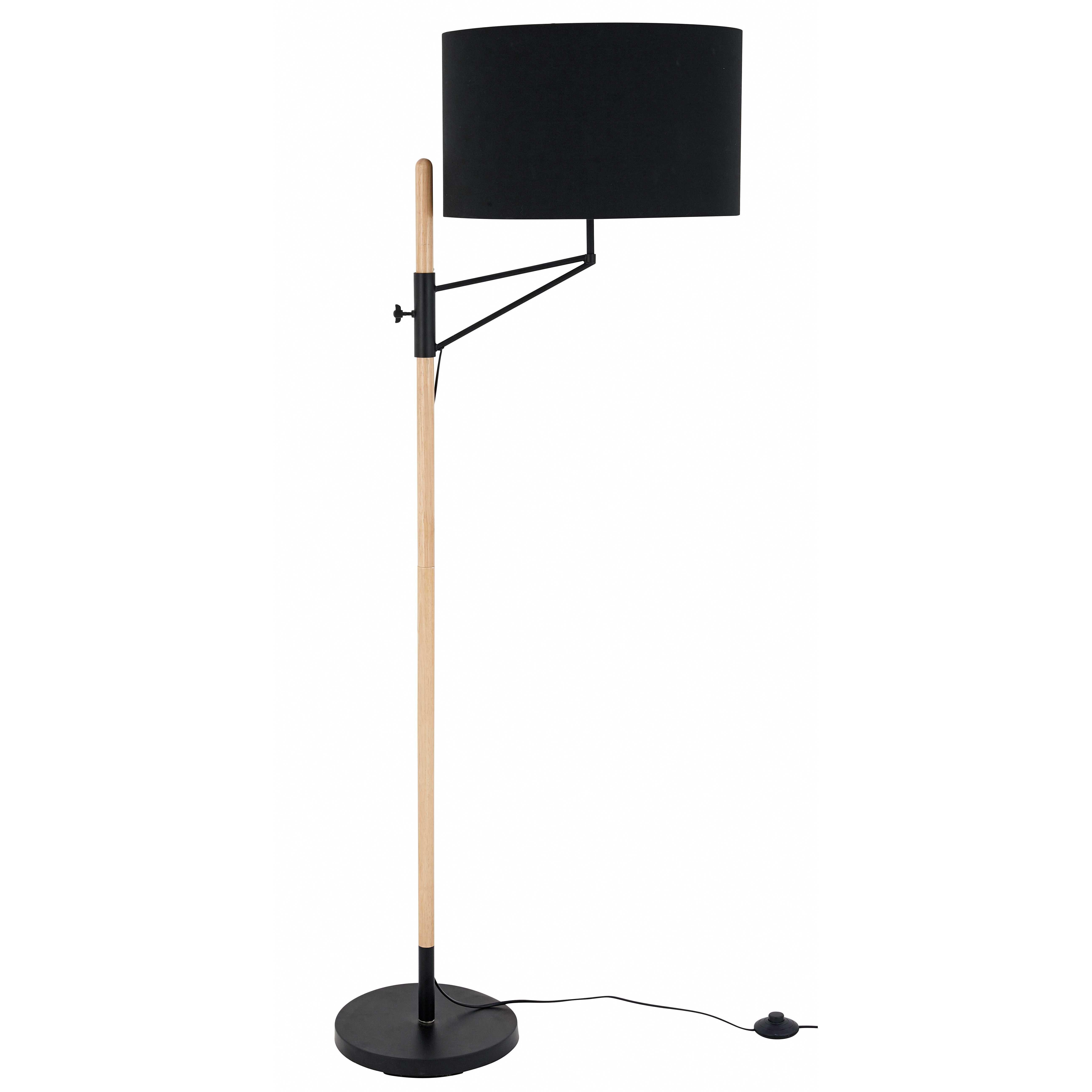 Stehlampe Aus Schwarzem Metall H 152cm Metal Noir Lampadaire