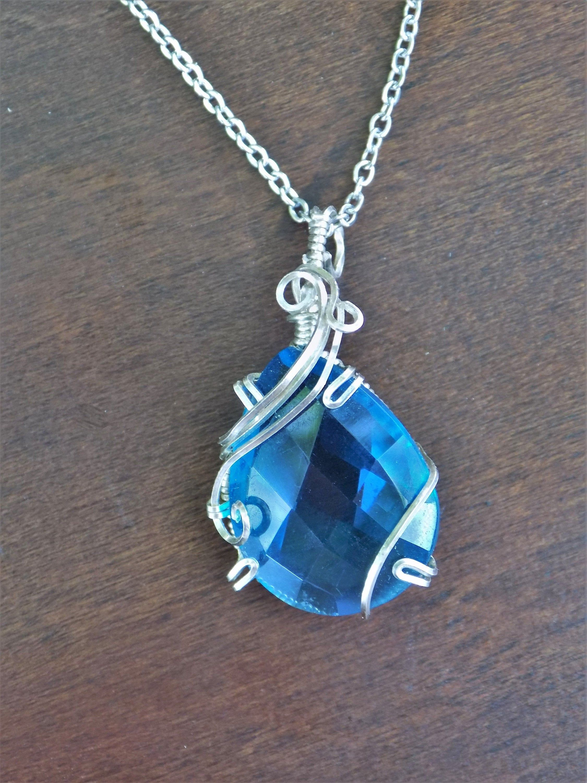 Gift for Her Blue Kyanite Chain Necklace Sterling Silver Necklace Blue Gemstone Pendant Necklace