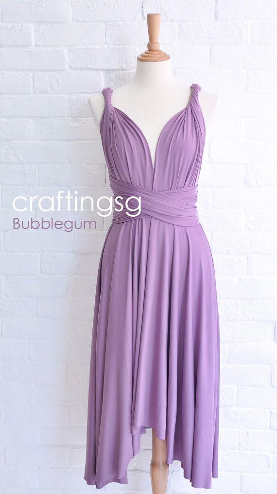 Bridesmaid Dress Infinity Dress Bubblegum Knee Length Wrap ...