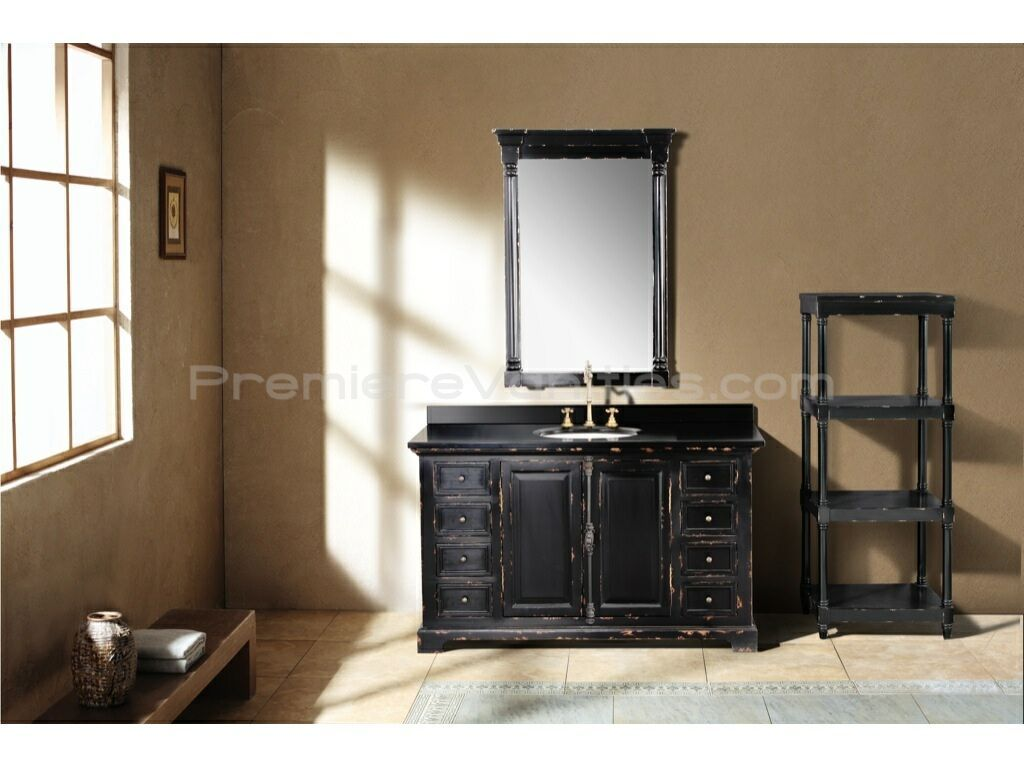 Antiqueing bathroom vanity inch antique black single bathroom