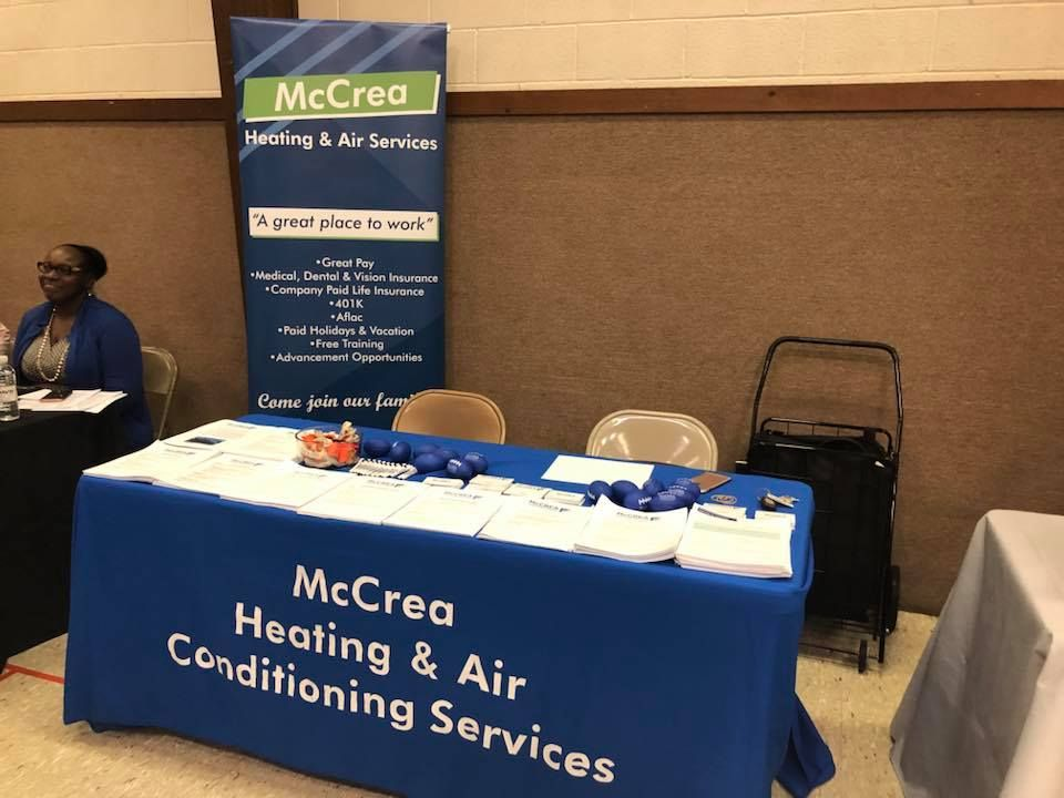 The job fairs continue! Today we are at Bethel Evangelical