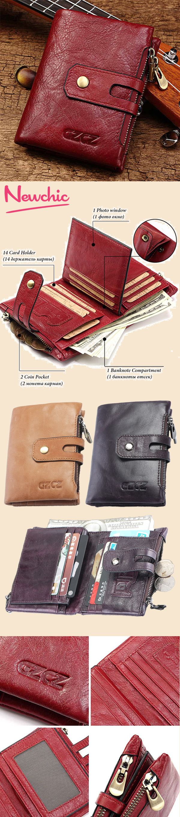 a34a2c696ddbc0 【US$28.56】Genuine Leather Bifold Wallet Female Small Wallet Money Bag Coin  Purse Card Holder #moneybags #wallets #cardwallet #bagsandpurse