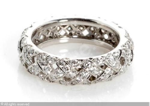 Vannerie eternity band from Tiffany
