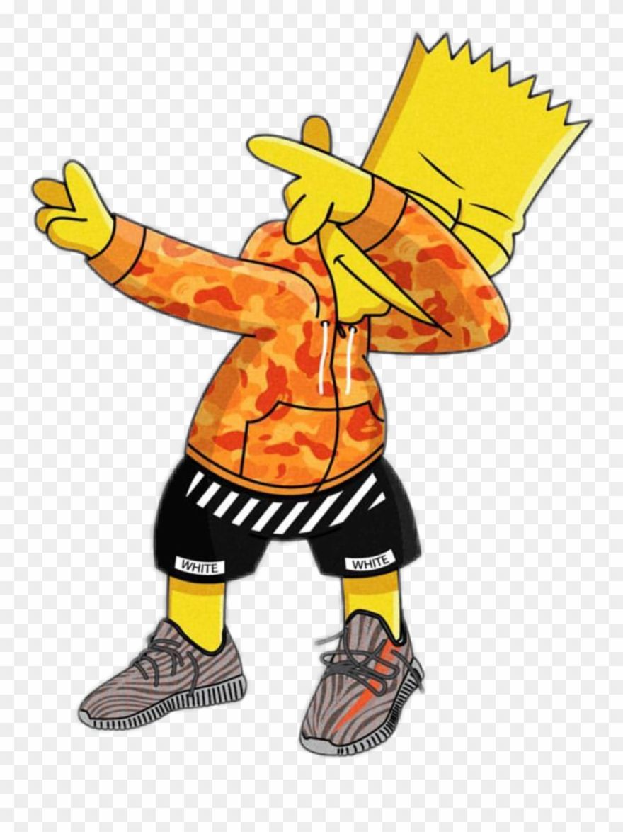 Download Hd Clip Art Royalty Free Stock Bart Dab Simpson Gang Trap Png Download And Use The Free Clipart For Your Creative Pro Bart Simpson Hypebeast T Shirt