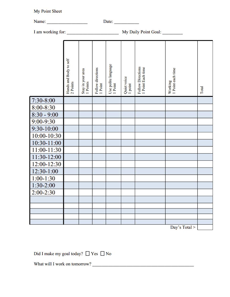 Behavior chart with goalc also aba pinterest rh
