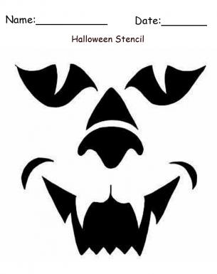 Printable Werewolf Halloween Craft Halloween Fun In 2018