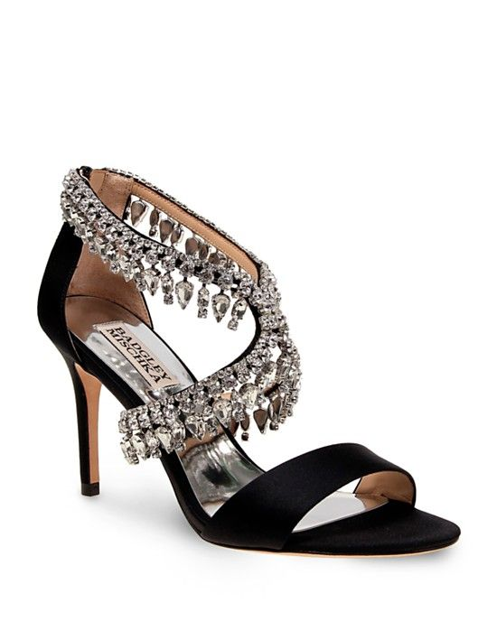 Badgley Mischka Grammy Jewel Embellished Open Toe High Heel Sandals |  Bloomingdale's