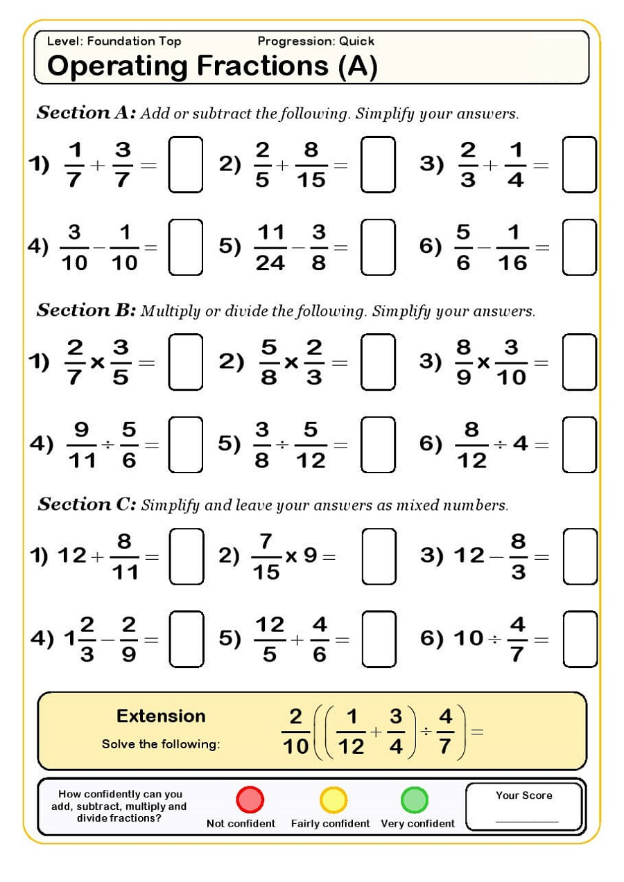 Free Printable Resources K5 Worksheets Algebra Worksheets Ks3 Maths Worksheets Fractions Worksheets