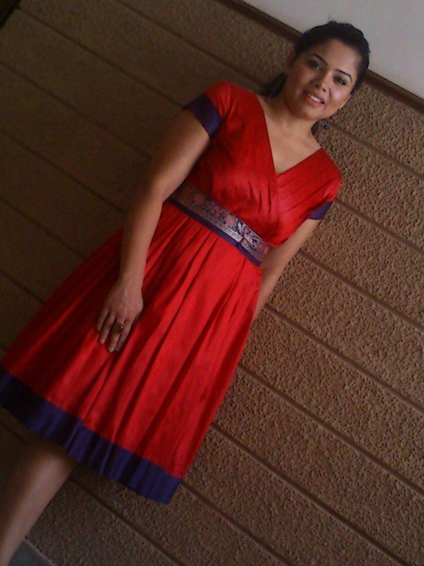 7153007c21ec5 Dress made from kanchipuram saree