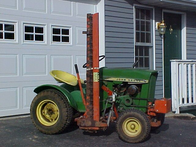 John Deere 110 with Haban 406 Sickle Bar Mover | A few of my