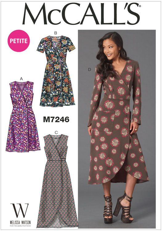 Misses and Miss Petite Dresses McCalls Sewing Pattern 7246 | szycie ...