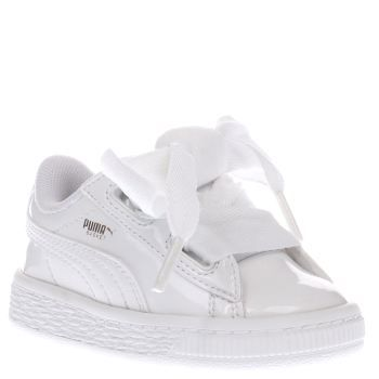 Puma White Basket Heart Patent Girls Toddler We cant get over how adorable  the PUMA Basket Heart Patent is, at it arrives downsized for teenie tiny ...